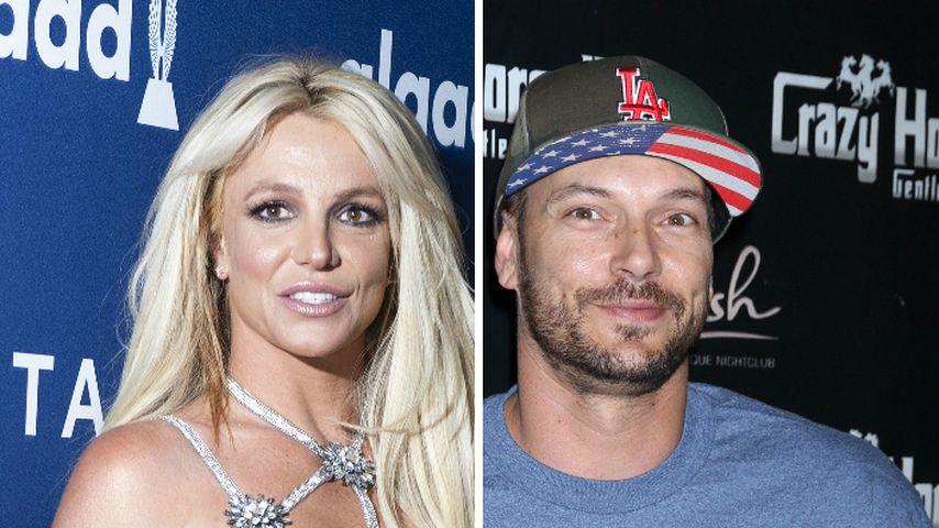 Collage: Britney Spears und Kevin Federline