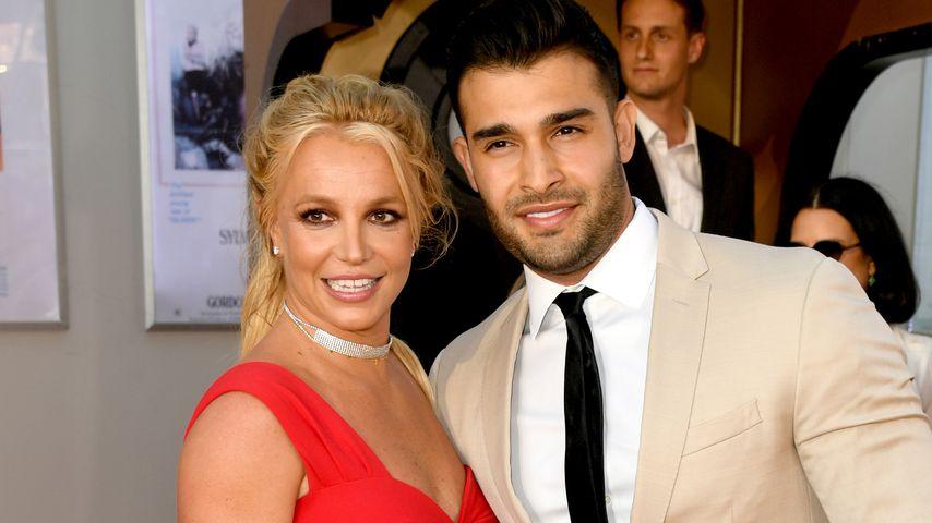 "Britney Spears und Sam Asghari bei der Premiere von ""Once Upon a Time in Hollywood"" in Los Angeles"