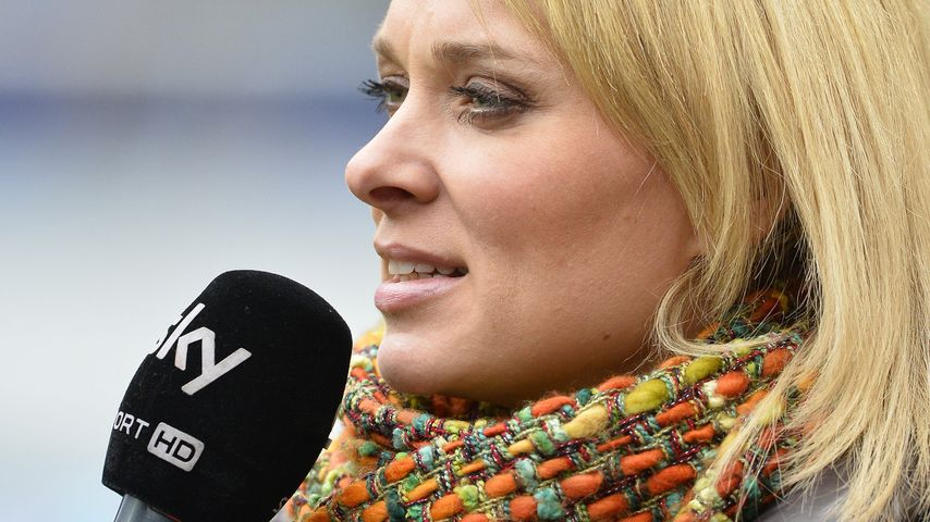 """Britta Hofmann bei der Arbeit als Reporterin für den Sender """"Sky"""""""