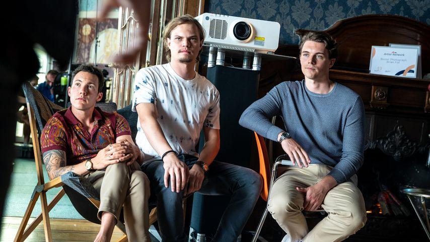 """Brix Schaumburg, Wilson Gonzalez Ochsenknecht und Gerrit Klein in """"Sunny – wer bist Du wirklich?"""""""