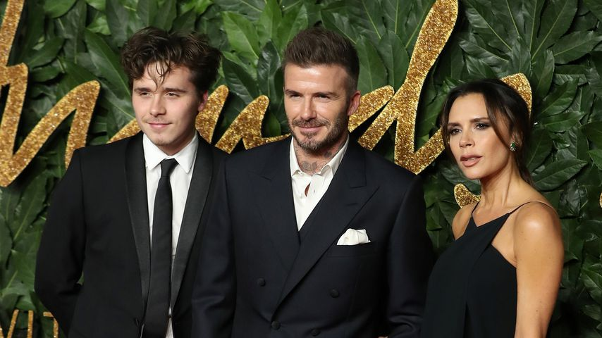 Brooklyn, David und Victoria Beckham in London