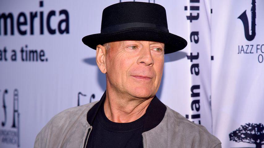 Bruce Willis im Apollo Theater in New York