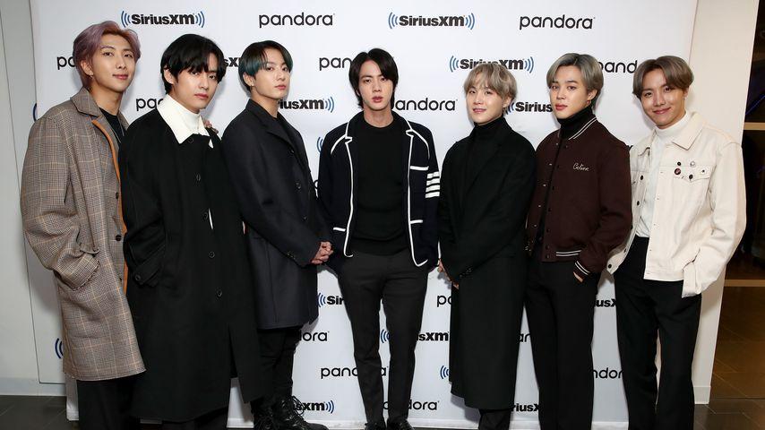 BTS in den SiriusXM-Studios in NYC im Februar 2020