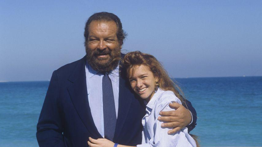 Bud Spencer und seine Tochter Diamante im Jahr 1987
