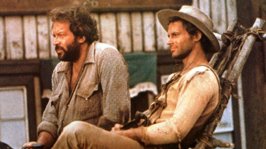 """Bud Spencer und Terence Hill in einer Szene aus """"Vier Fäuste für ein Halleluja"""" (1971)"""