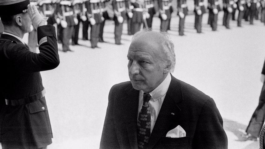 Bundespräsident Walter Scheel auf Staatsbesuch in Frankreich im Jahr 1975