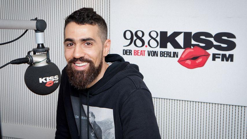 Rapper Bushido bei Kiss FM