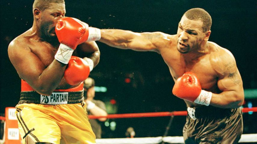 Buster Mathis Jr. und Mike Tyson 1995