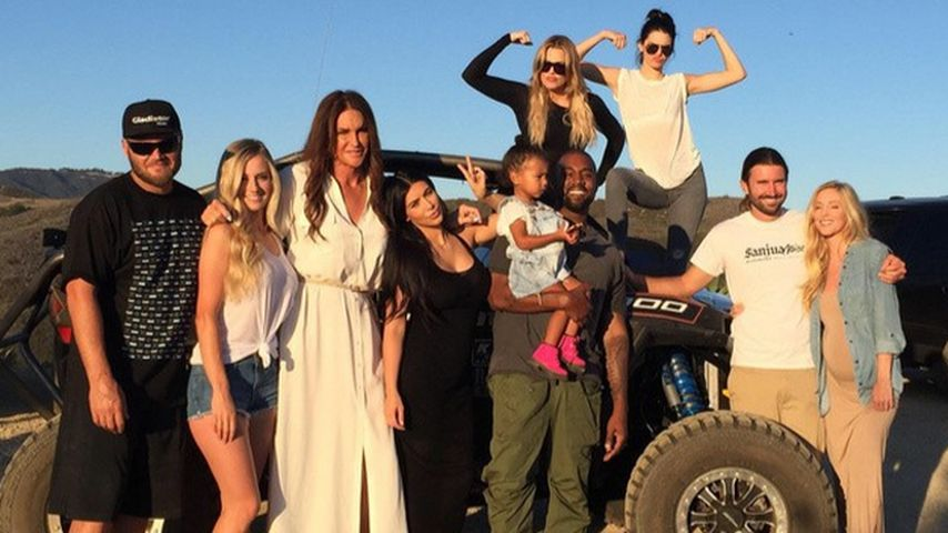 Kim Kardashian, Kanye West, North West und Caitlyn Jenner