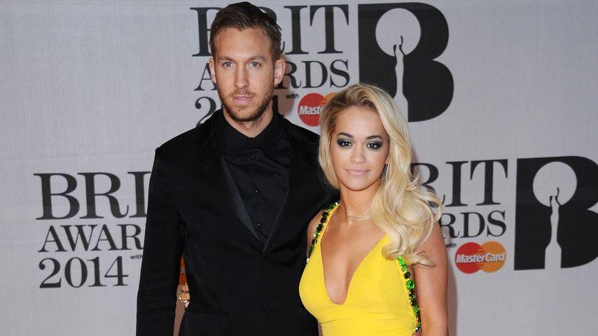Calvin Harris und Rita Ora bei den Brit-Awards 2014