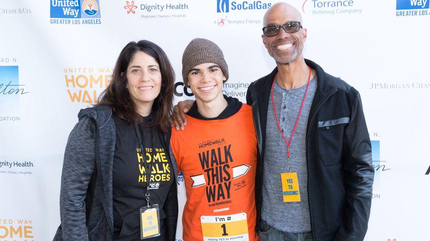 Cameron Boyce und seine Eltern Libby und Victor