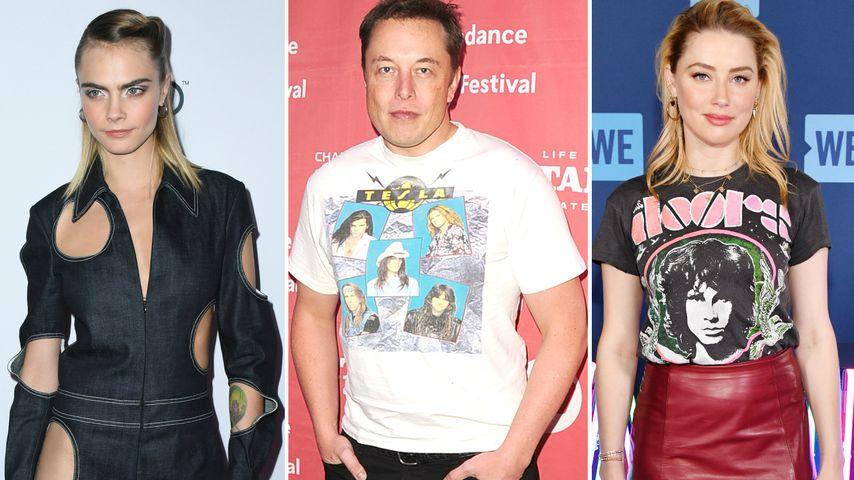Elon Musk streitet Dreier-Romanze mit Cara und Amber ab
