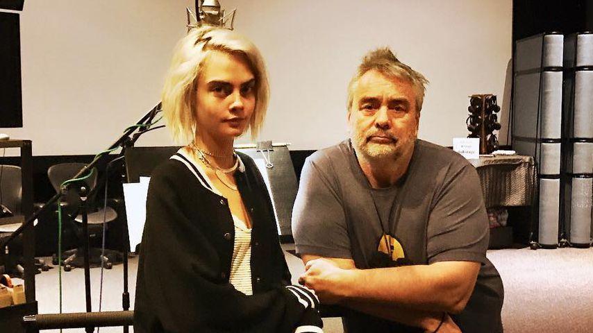 Cara Delevingne und Luc Besson