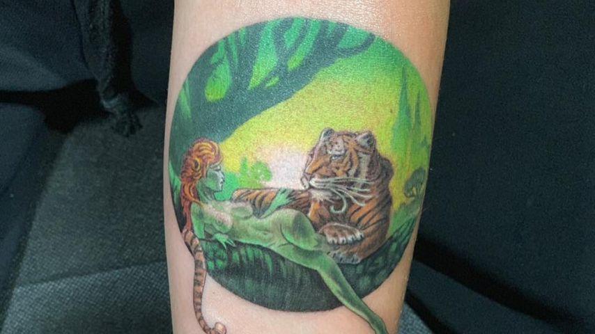 Cara Delevingnes neues Tiger-Tattoo