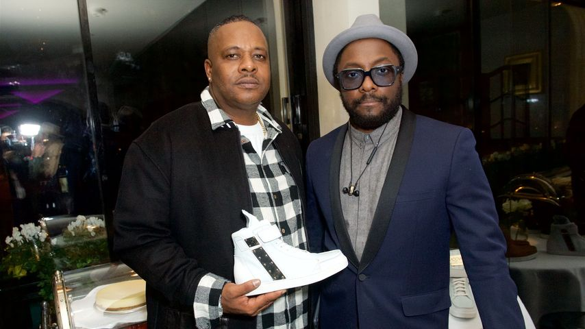 Carl Gilliam und Bruder Will.i.am beim MCCVIII The Luxury Sneaker Launch in London
