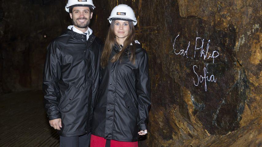 In Stein gemeißelt: Prinz Carl Philip & Sofia verewigen sich