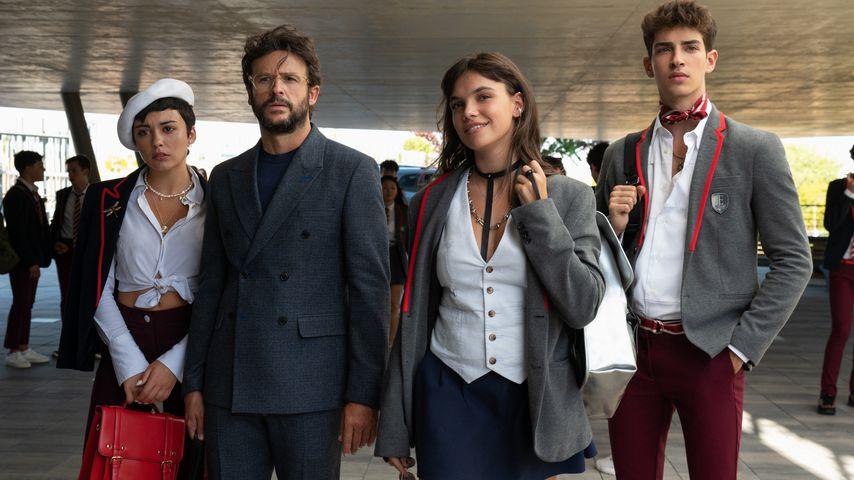 "Carla Díaz, Diego Martin, Martina Cariddi und Manu Ríos in ""Élite"""