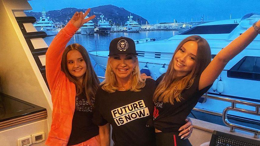 Carmen Geiss mit ihren Töchtern