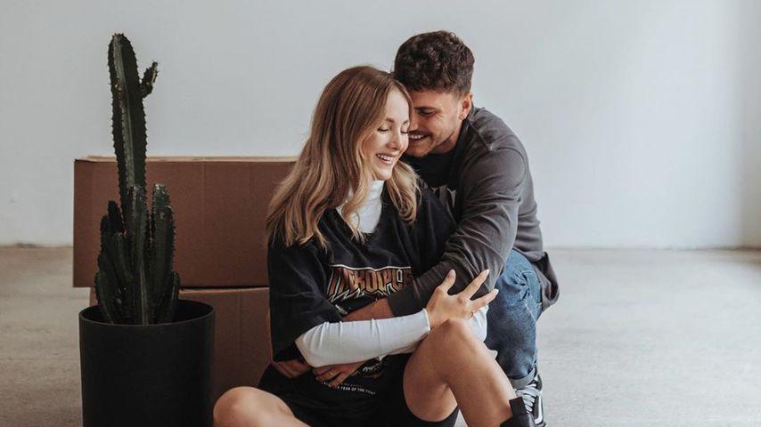 Carmen Kroll mit ihrem Ehemann Niclas im Juli 2020