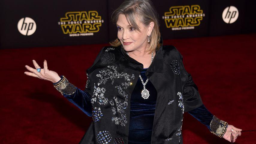 """Carrie Fisher bei der """"Star Wars""""-Premiere 2015"""