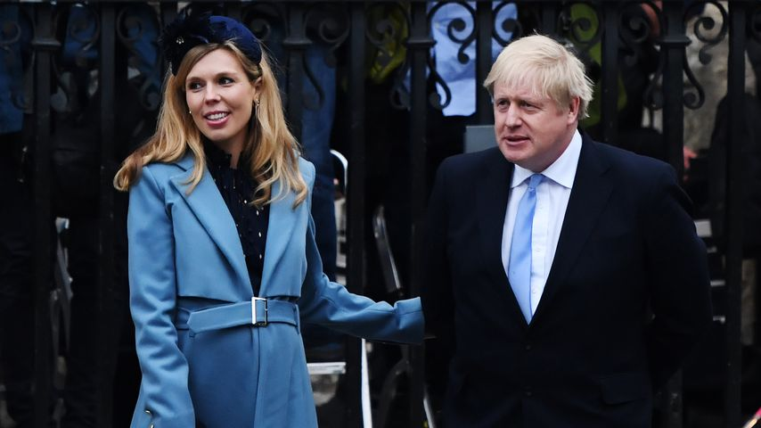 Carrie Symonds und Boris Johnson im März 2020 in London