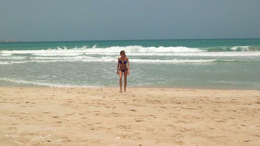 Ohne ihn in Dubai: Cathy Fischer vermisst ihren Mats