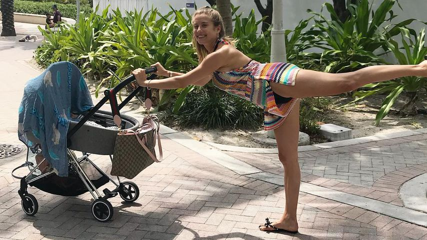 Cathy Hummels' Yoga-Kniff: So bleibt sie auch im Urlaub fit!