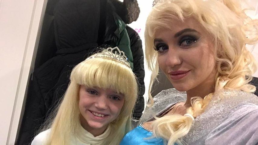Cathy Lugner mit ihrer Tochter Leonie