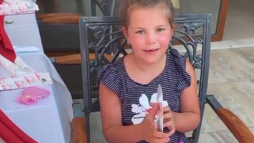 Celina-Sophie Wollny an ihrem siebten Geburtstag