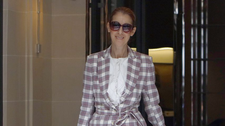 "Celine Dion beim Verlassen des Hotels ""Ryoal Monceau"" in Paris"
