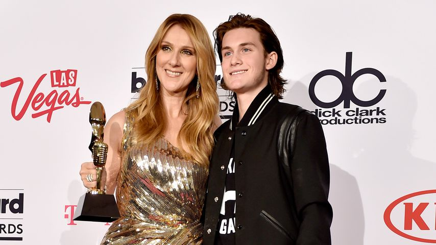 Celine Dion mit ihrem Sohn René-Charles Angélil bei den Billboard Music Awards