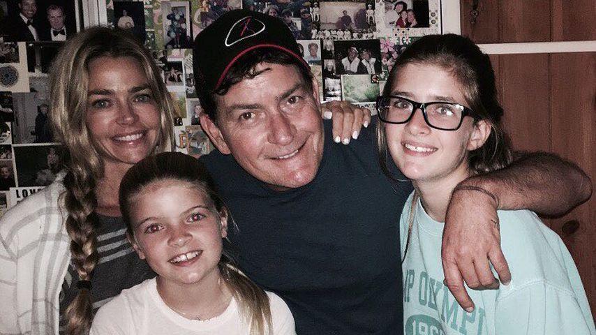 Happy Family! Charlie Sheen mit Ex Denise Richards & Kids