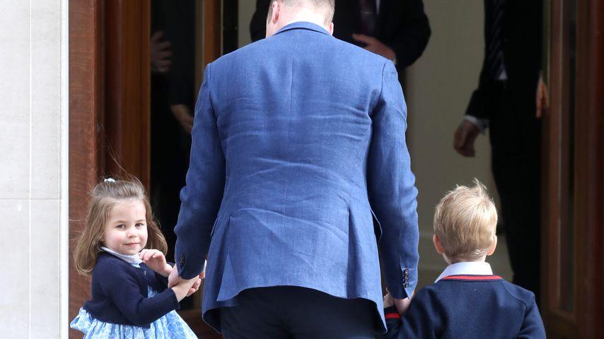 Prinz William mit Prinzessin Charlotte (l.) und Prinz George