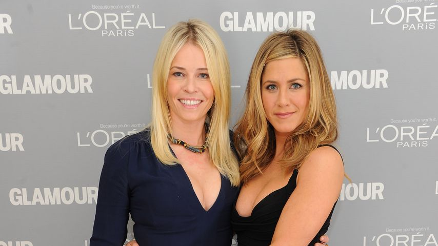 Chelsea Handler und Jennifer Aniston in NYC