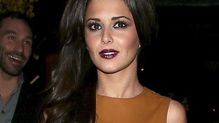 Gut gewürzt: Cheryl Cole im scharfen Lederkleid