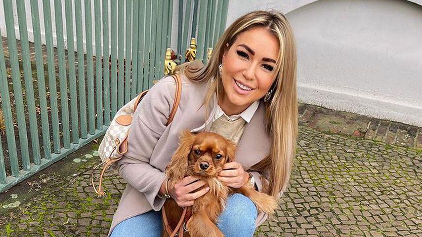 Chethrin Schulze mit ihrem Hund