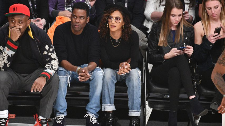Chris Rock und Megalyn Echikunwoke, 2018