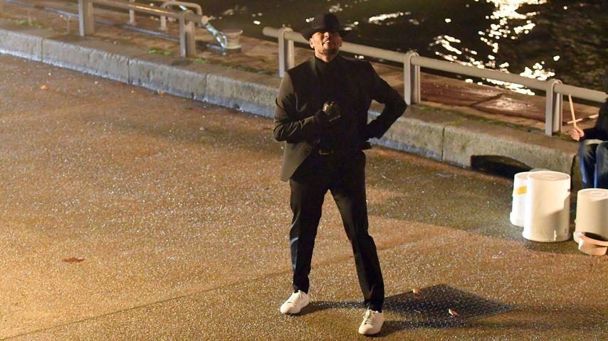 Chris Brown beim Videodreh in Paris
