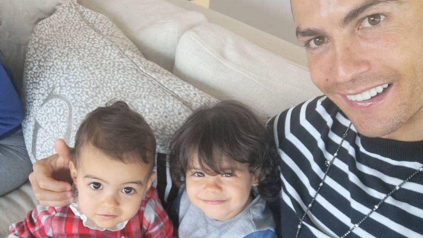 Vollblut-Papa Cristiano Ronaldo ist vernarrt in seine Kids!