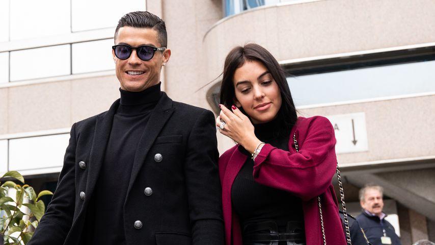 Christiano Ronaldo mit seiner Freundin Georgina Rodriguez