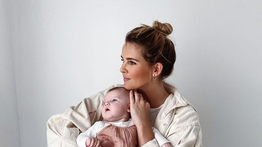Christin Kaeber mit ihrer Tochter
