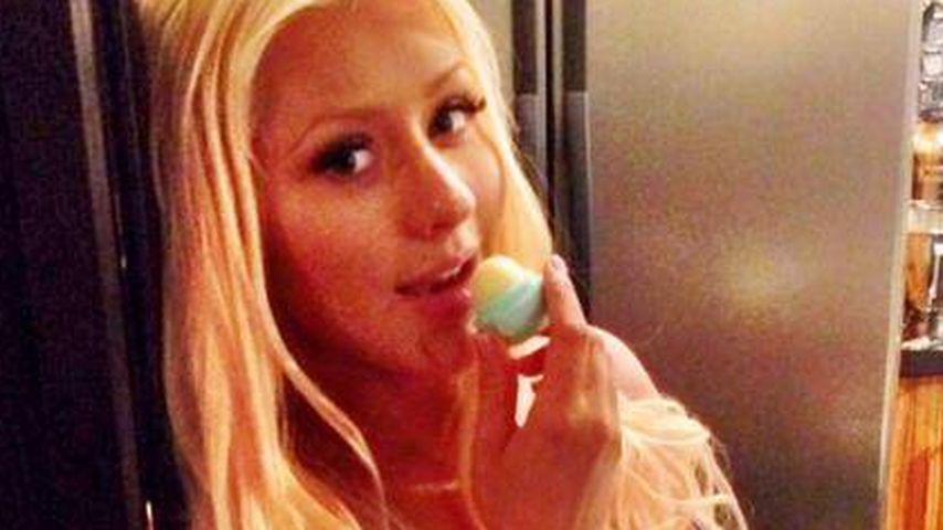 Runde Sache: Christina Aguilera zeigt Babykugel
