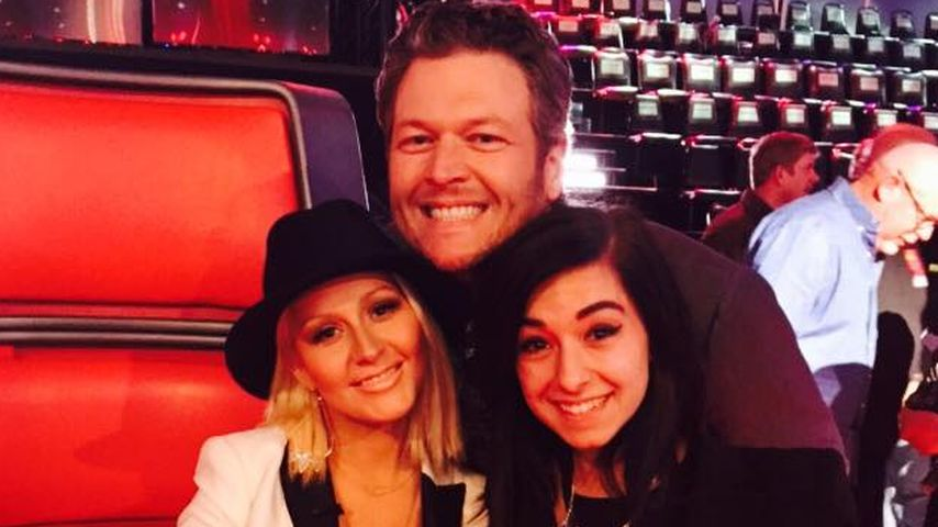 "Christina Grimmie mit Christina Aguilera und Blake Shelton bei ""The Voice"""