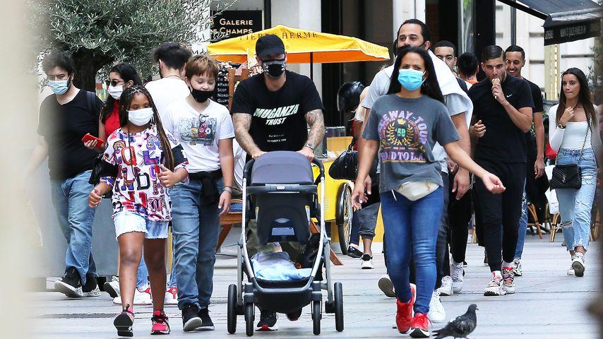 Christina Milian und Matt Pokora mit den Kids Violet und Isaiah