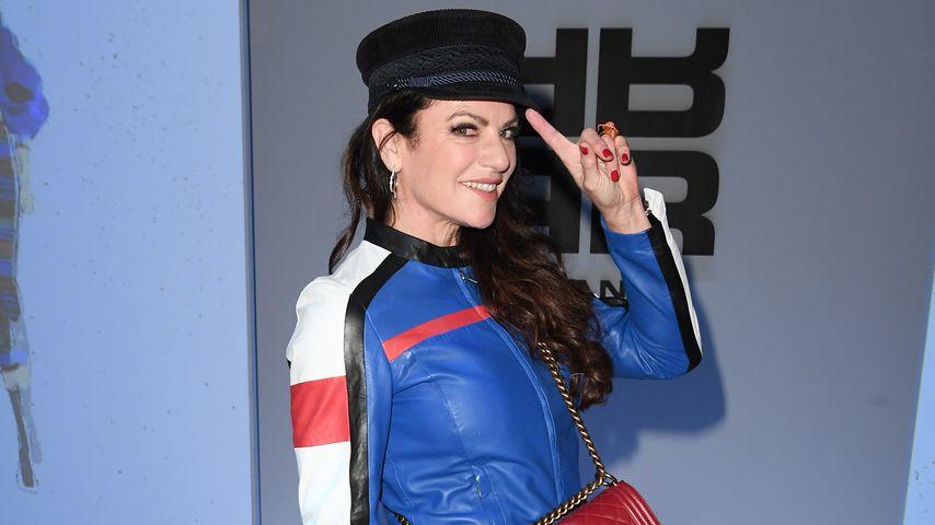 Schauspielerin Christine Neubauer auf der Riani-Fashionshow in Berlin