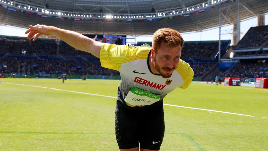 Christoph Harting nach seinem Sieg bei Olympia 2016