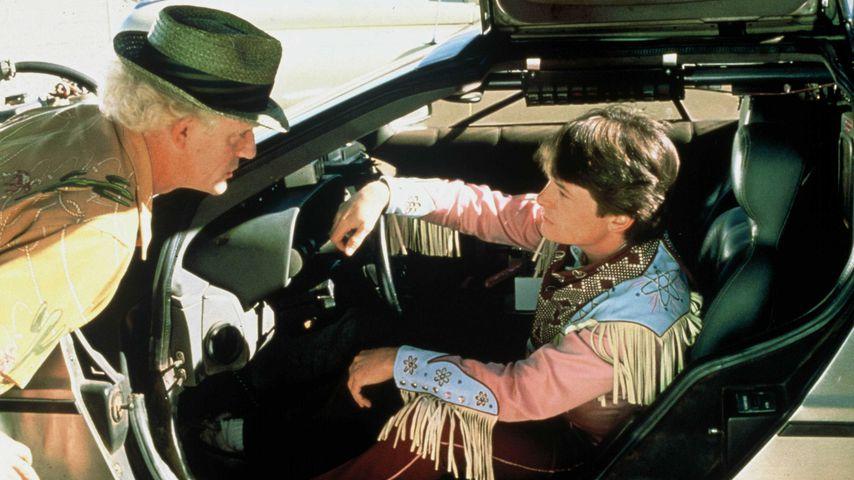 """Christopher Lloyd und Michael J. Fox in """"Zurück in die Zukunft 3"""""""