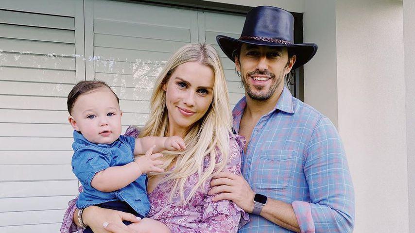 Claire Holt, ihr Mann Andrew Joblon und ihr Sohn James in Australien im Dezember 2019