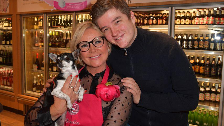 Claudia Effenberg mit ihrem Sohn Thomas Strunz