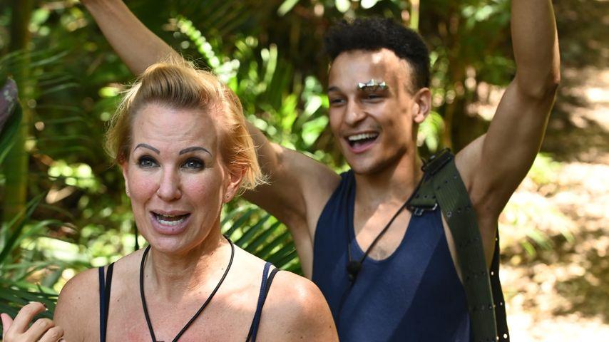 Claudia Norberg und Prince Damien im Dschungelcamp